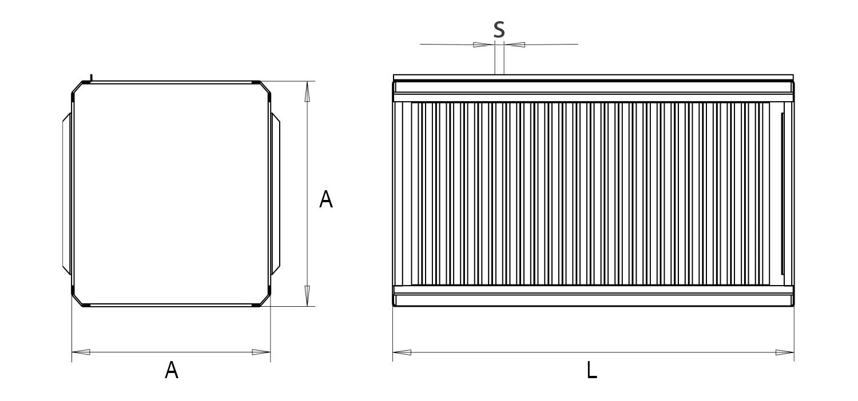 чертеж перекрестноточного рекуператора