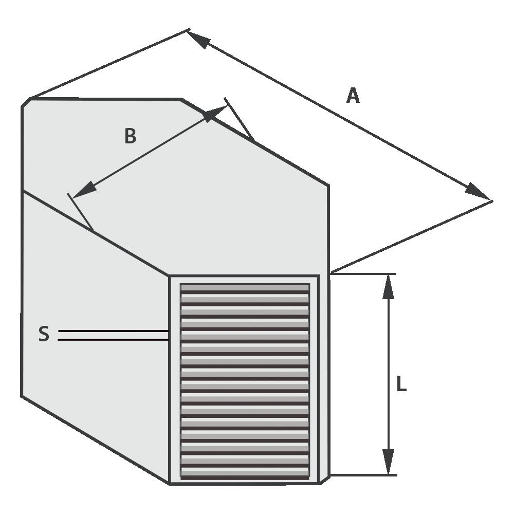 чертеж противоточного теплообменника