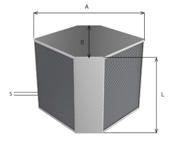 схема противоточного рекуператора